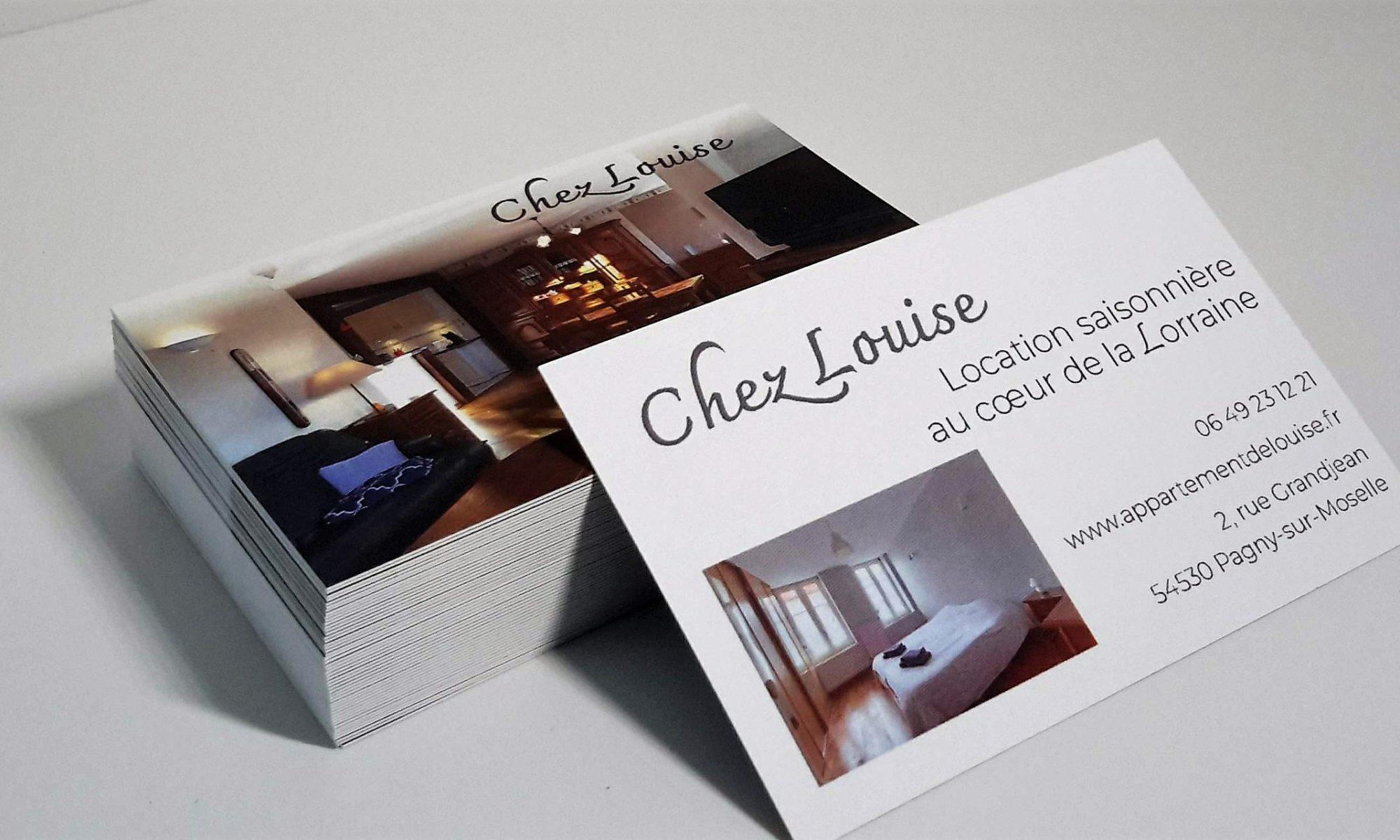 Appartement Chez Louise : une carte de visite pour communiquer efficacement