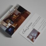 Carte de visite avec photos pour présenter un appartement en location saisonnière en Lorraine