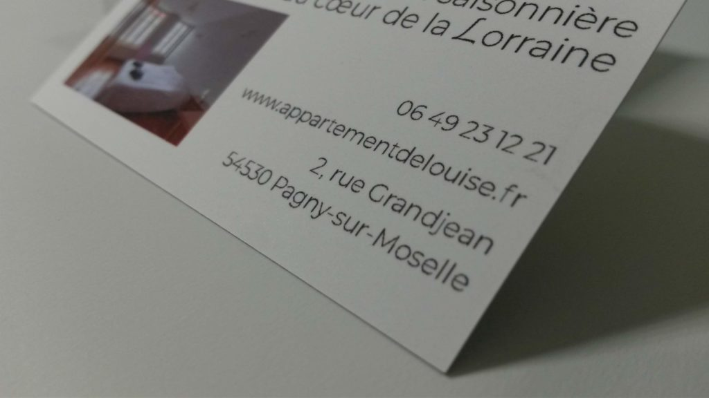 location saisonni u00e8re   carte de visite