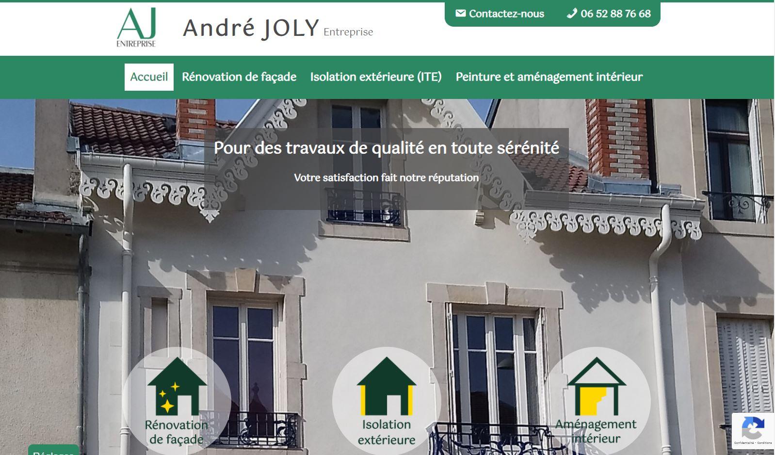 Site de l'entreprise Andre Joly à Nancy : des réalisations à l'honneur