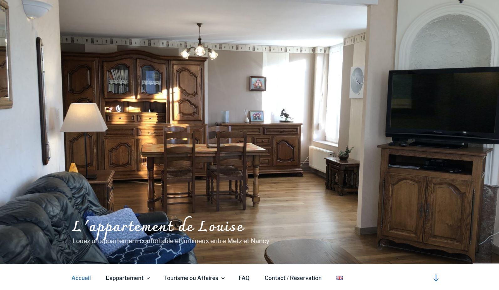 un site développé pour mettre en avant un appartement en location saisonnière