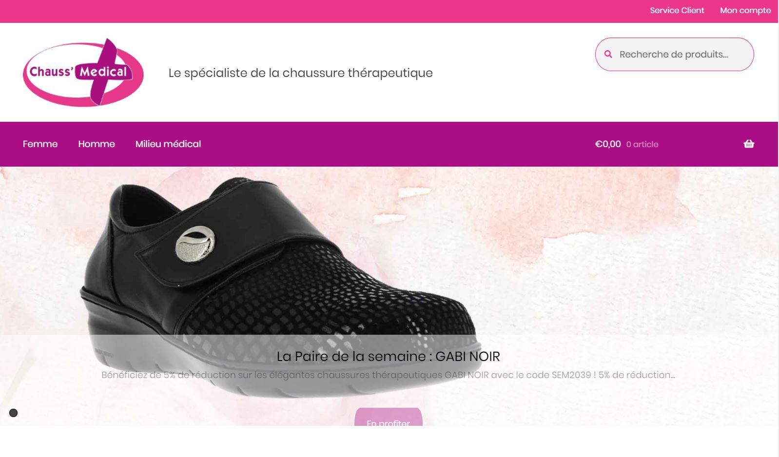 e-commerce de chaussures thérapeutiques