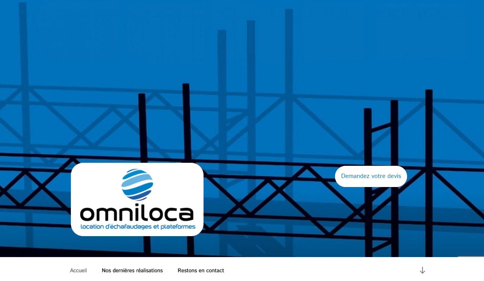 Un site vitrine avec actualité pour une entreprise de location d'échafaudages