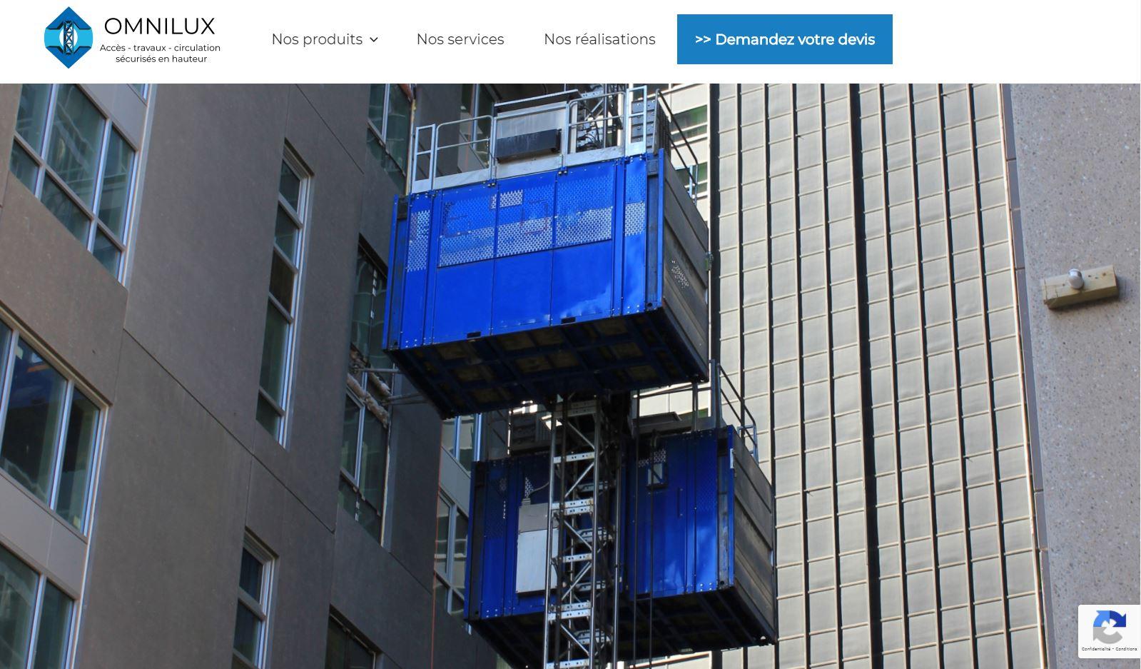 omnilux : site internet vitrine et actualités
