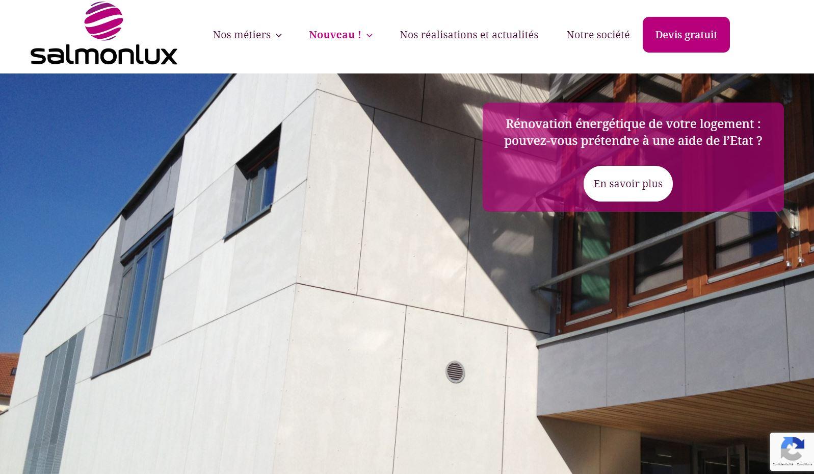Salmonlux : un site internet aux couleurs franches et aux photos mises en valeur
