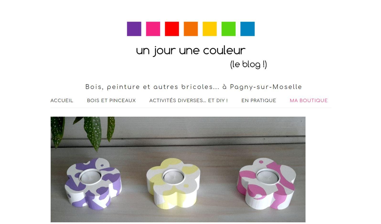 un jour une couleur : développement site internet blog et e-commerce